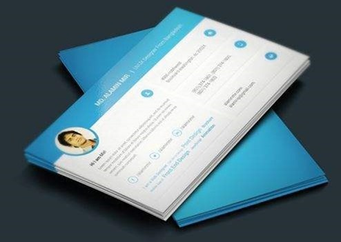 Modern Business Card Template On Graphic Twister