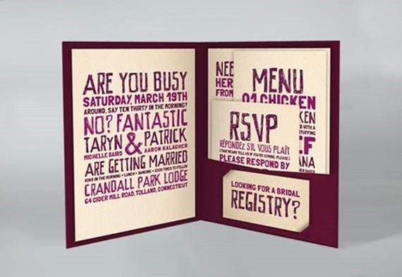 Memorable Full Set D I Y Wedding Invitation With Cool