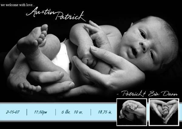 25 SuperCool Birth Announcement Cards – Elegant Birth Announcements