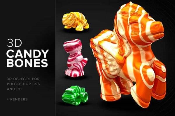 CandyBones-Photoshop-3D-Objects-Freebiefy