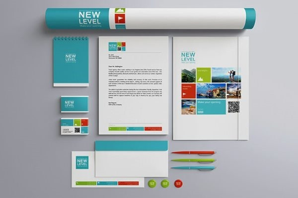 Stationery Presentation Mock-up Template