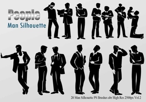 20-man-silhouette-ps-brushes-vol-2