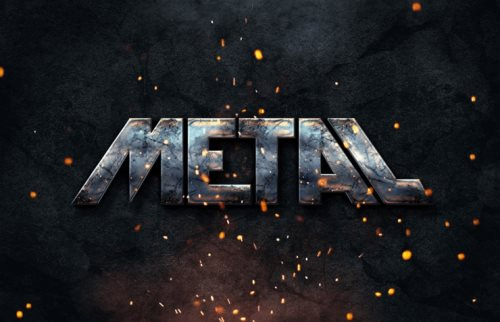 metal text style