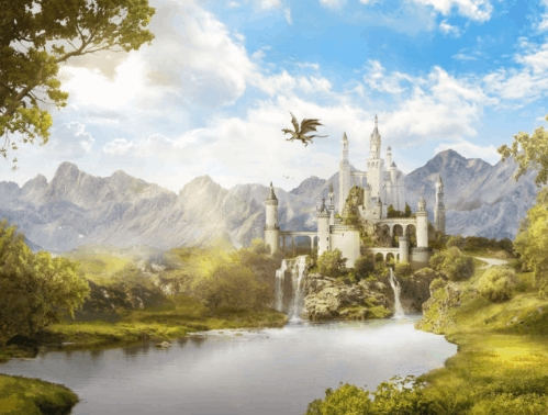 fantasy landscape photoshop tutorial