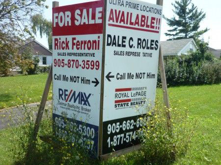 real estate yard sign