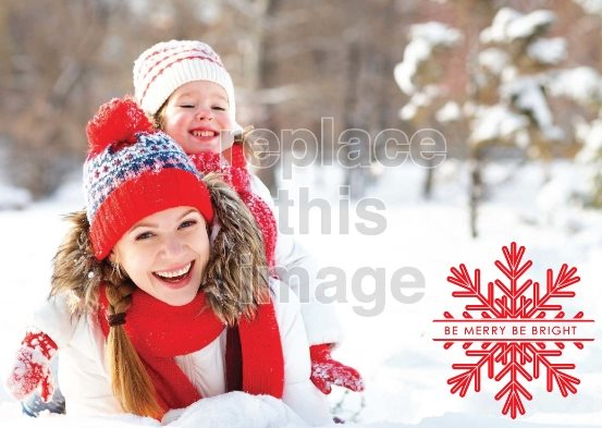 free Christmas card template