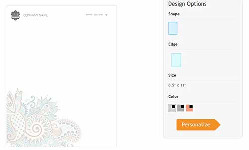 online stationery design tool