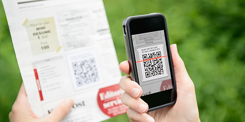 phone scanning printed document
