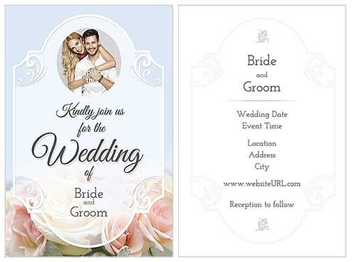 10 Beautiful And Free Wedding Invitation Card Templates Psprint Blog