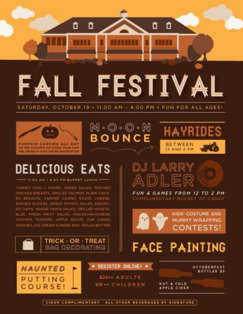fall festival flyer design