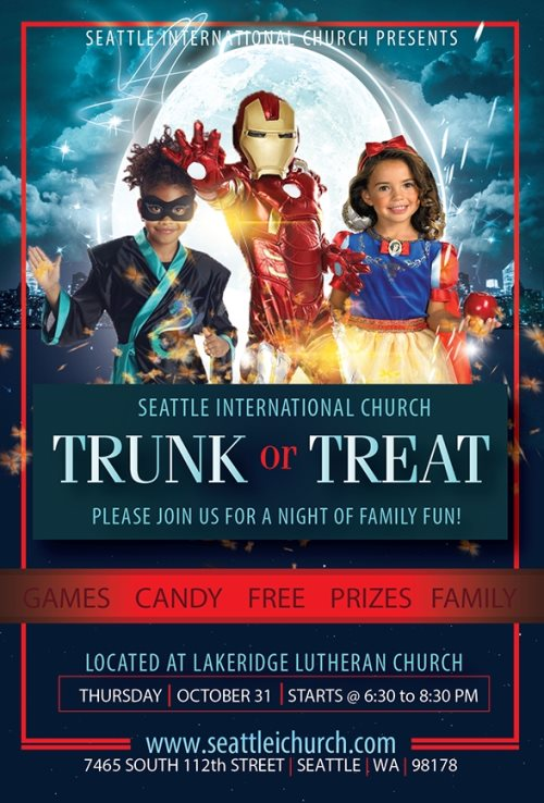 trunk or treat flyer design