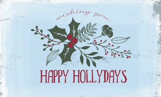 Happy Hollidays  Free Xmas Card Template