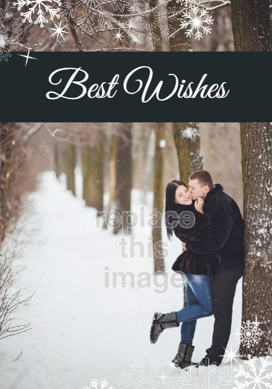best wishes holiday card template