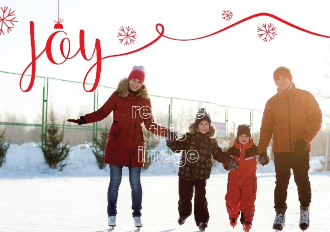 joyful photo free holiday card template