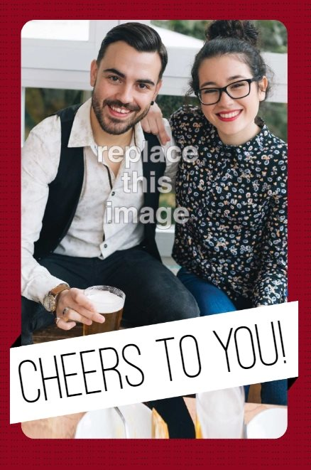 cheers banner holiday card template