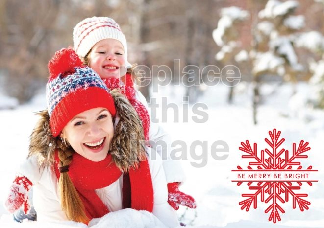 snow fun free holiday card template