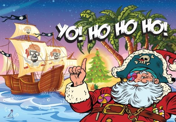 Santa Yo free holiday card template