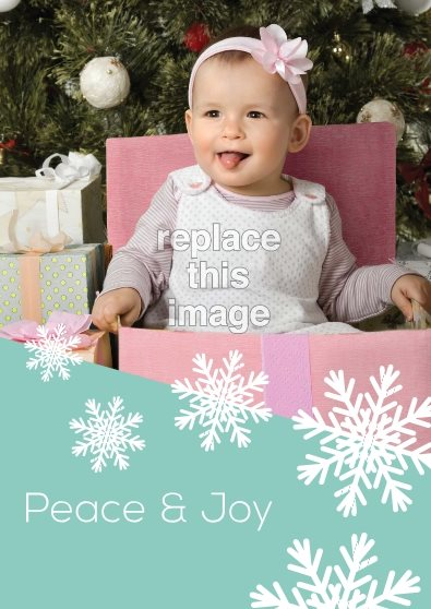 snow flake holiday card template