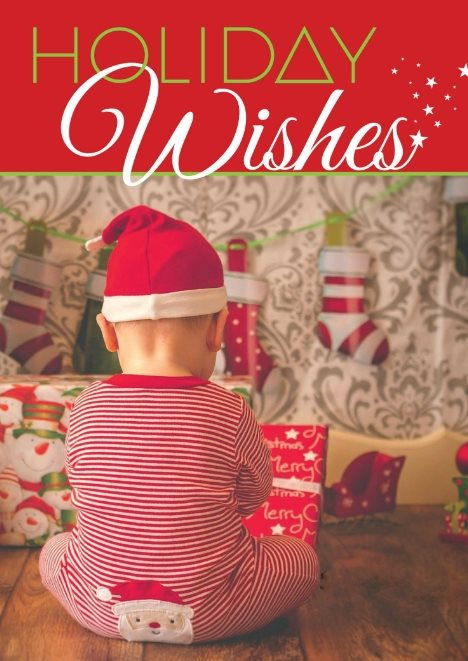 holiday wishes free card template