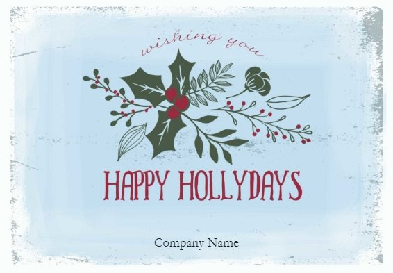 free holiday card template for Christmas