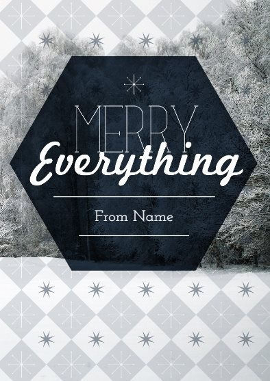 merry everything holiday card template
