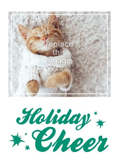 holiday cheer greeting card template