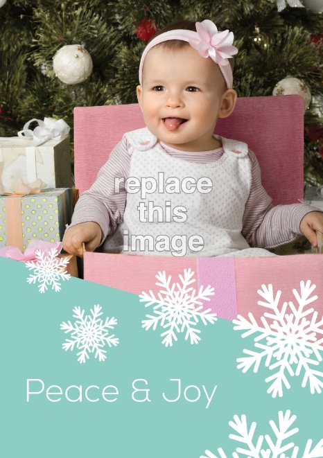 free snowflake holiday card template