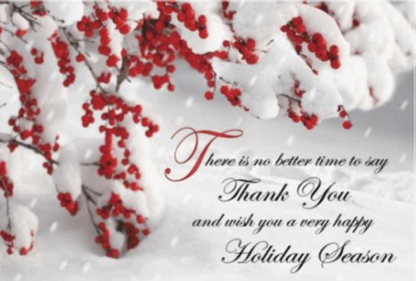 Thank You Holiday Card Template Free  Free Xmas Card Template