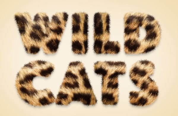 animal fur text effect Photoshop tutorial
