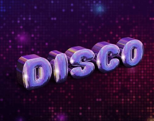 disco text effect tutorial