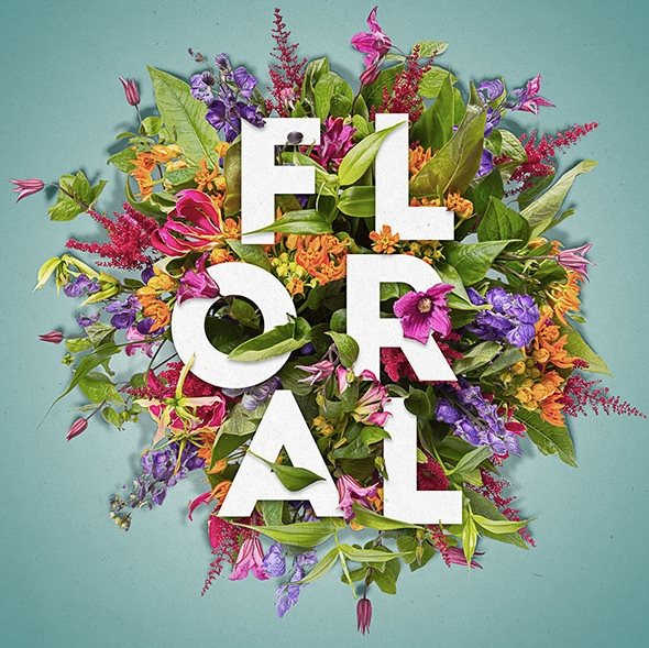 floral typography photoshop tutorial