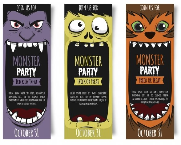 free Halloween party ticket templates