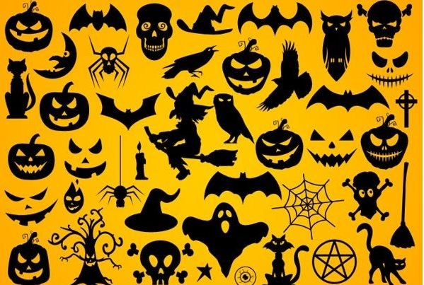 free Halloween Photoshop shapes