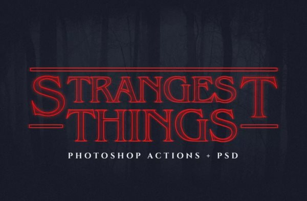 Stranger Things text Photoshop