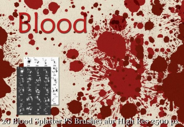 blood spatter brushes