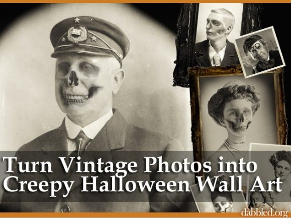 Halloween wall art photoshop tutorial