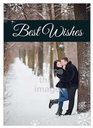 customizable holiday card template