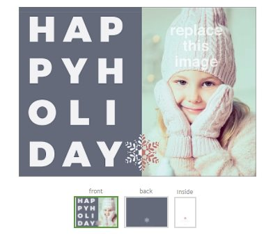 holiday card template