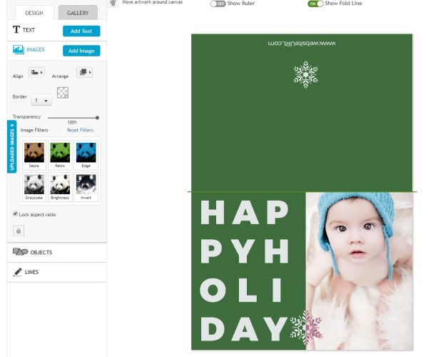 personalized holiday card printing