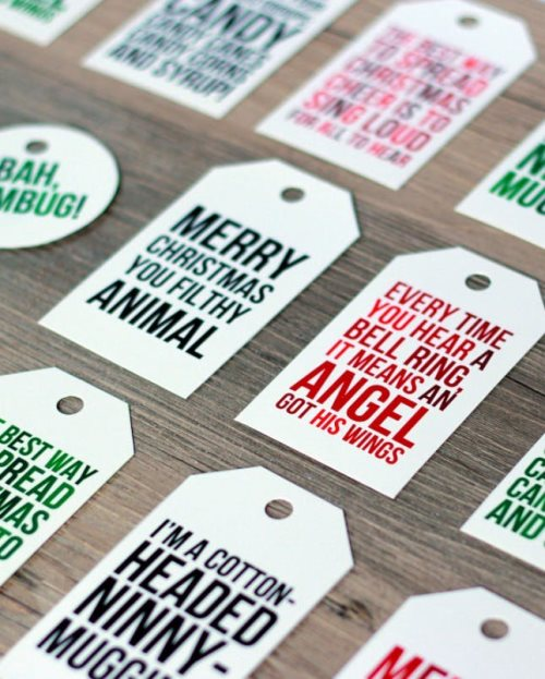 movie quote gift tags