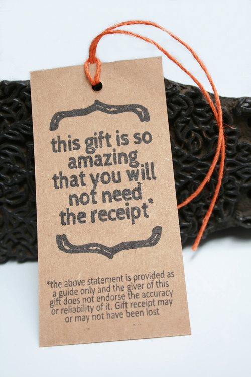 funny holiday gift label