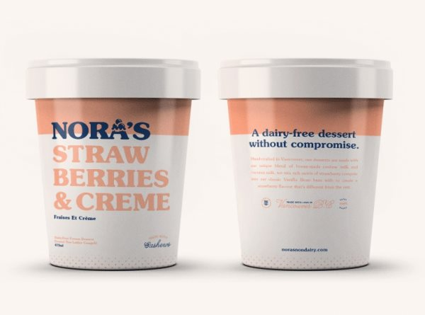 Nora's Non-Dairy packaging
