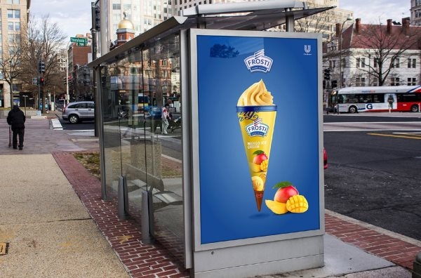 Frosti ice cream bus station ad