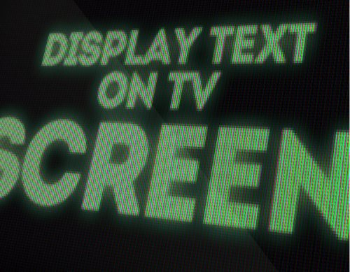 LED screen text effect Photoshop tutorial