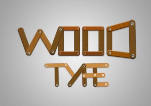 wood text effect