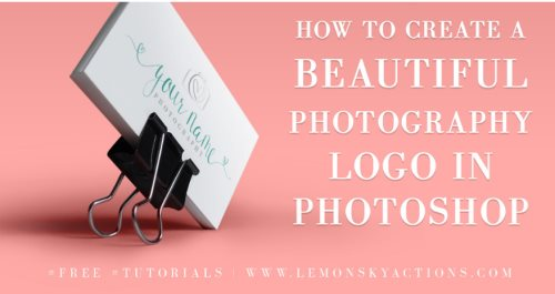 photography logo tutorial