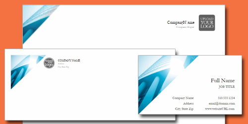 matching business card, letterhead, envelope