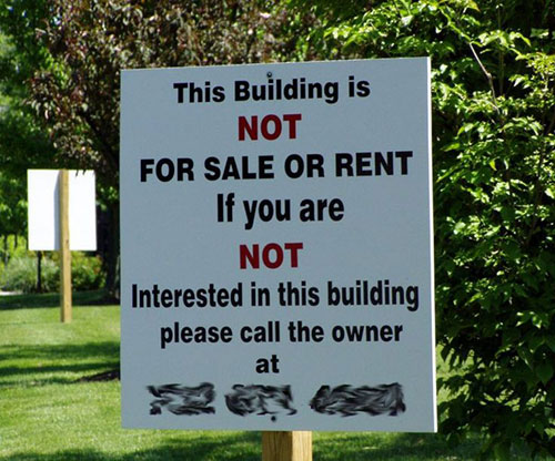 10 Hilarious Real Estate Yard Signs That (Probably) Sold
