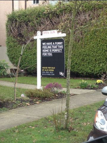funny real estate agent sign