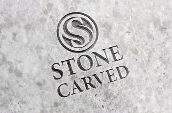 stone carved psd